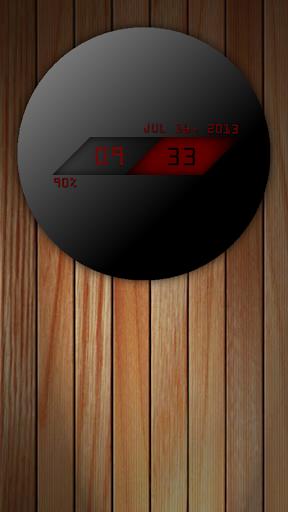 UCCW Skin - Dark Sphere Clock