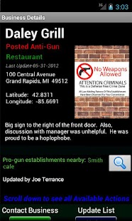 Posted! - List Pro & Anti Gun Carry Locations- screenshot thumbnail
