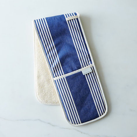 Oxford Navy Double Oven Mitts