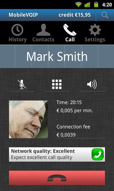 Jumblo - Mobile Sip calls - screenshot
