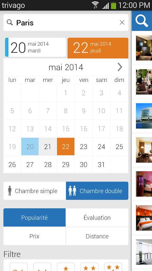 Trivago comparateur d 39 h tels applications android sur for Trivago comparateur hotel