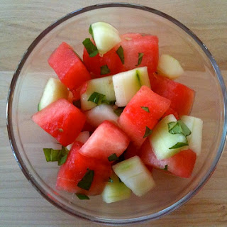 Watermelon Cucumber Salad.