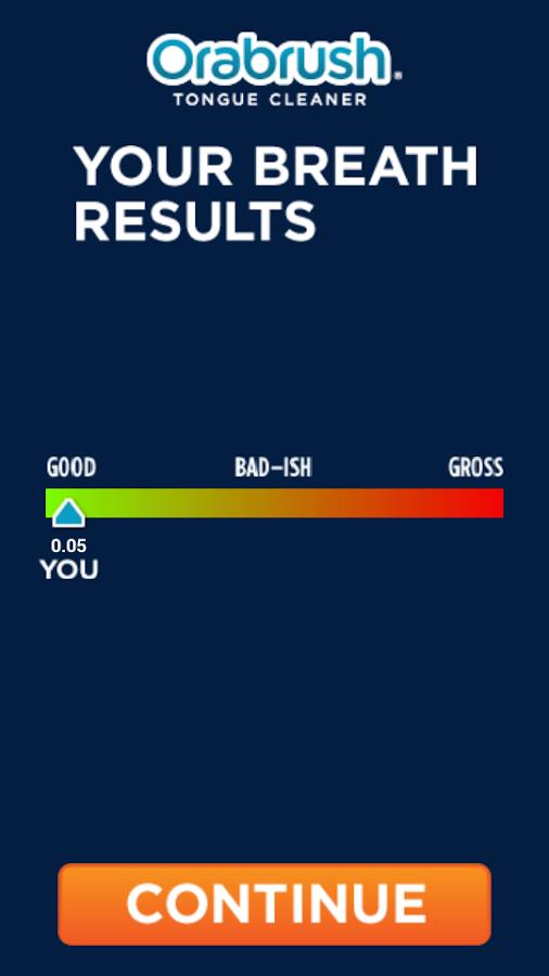 Orabrush Real Bad Breath Test - screenshot