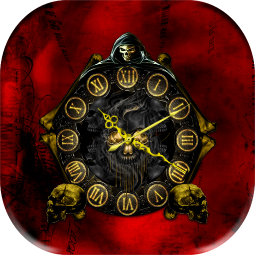 Skull Clock Live Wallpaper 個人化 App LOGO-硬是要APP