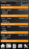 Screenshot of MyLog GPS Trips Logbook