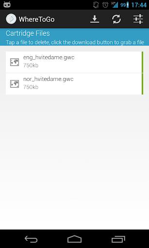 WhereToGo Cartridge Downloader