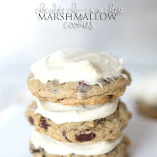 Chocolate Chip Cream Cheese Marshmallow Cookies