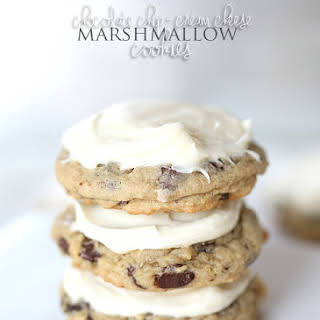 Chocolate Chip Cream Cheese Marshmallow Cookies.