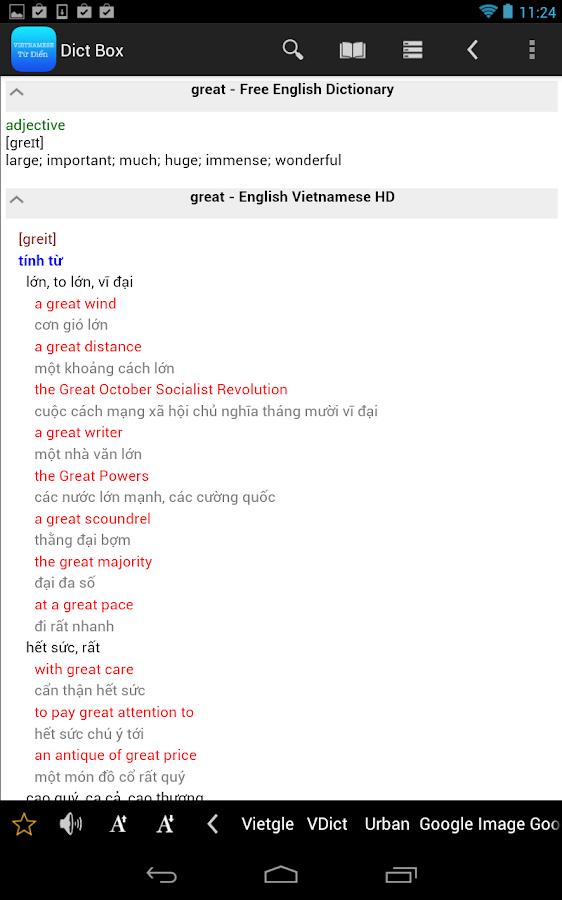 English Vietnamese Dictionary - screenshot