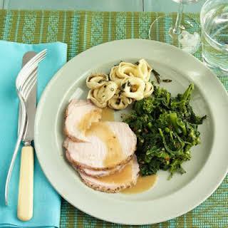 Roasted Pork Loin with Balsamic Gravy.