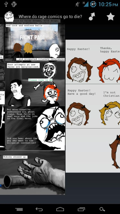 RageSwipe - Rage Comics Reader - screenshot