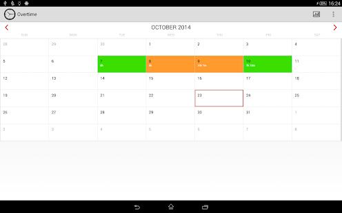 Overtime Tracker screenshot