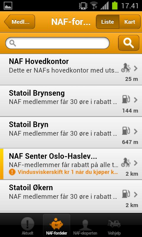NAF - screenshot