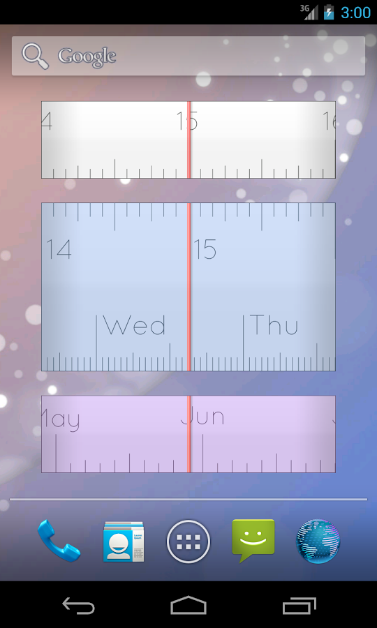 Linear Clock Widget Pro- screenshot