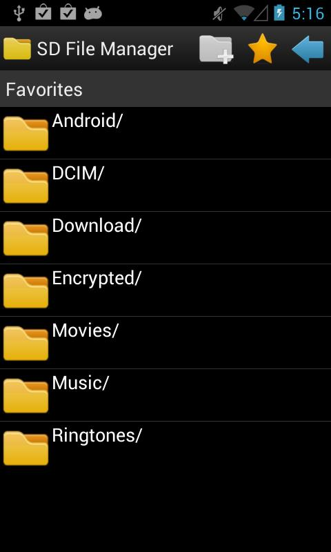 SD File Manager - screenshot
