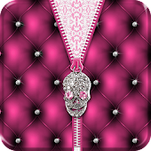 ★ Punk Skull Theme Zipper ★