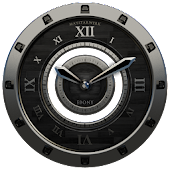 Luxus Ebony HQ Clock Widget