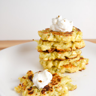 Cauliflower and Feta Fritters.