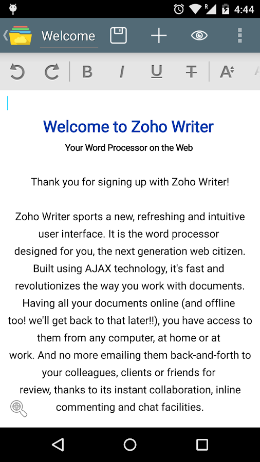 Zoho Docs- screenshot
