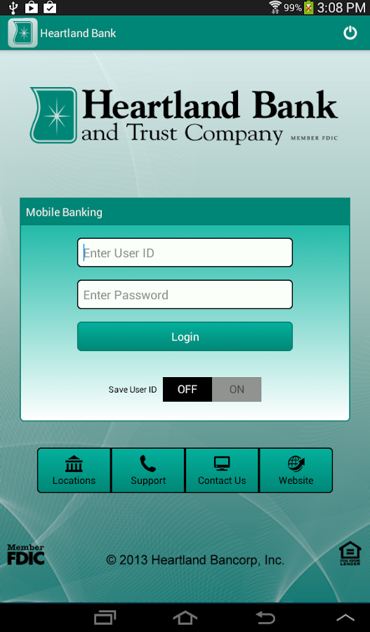 Heartland Bank Mobile - screenshot