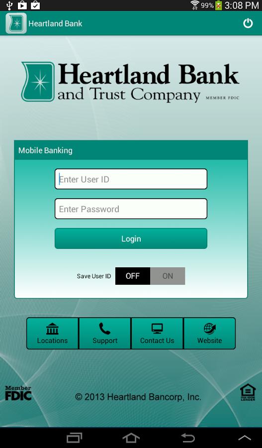 Heartland Bank Mobile - screenshot