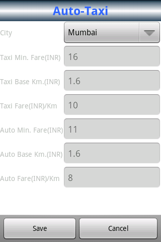 Auto-Taxi Route & Fare Finder- screenshot