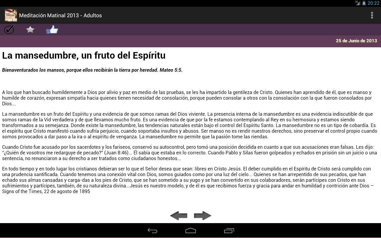 Meditacion Matutina 2013 - screenshot