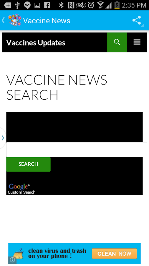 Vaccines-Immunizations Updates- screenshot