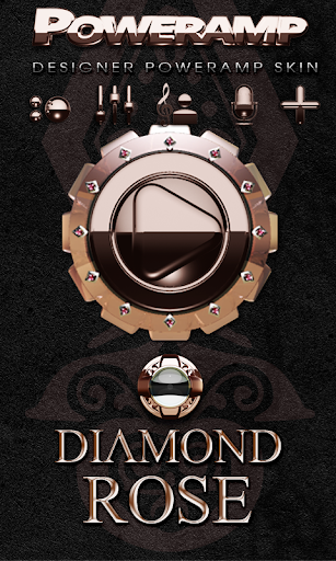 Poweramp skin Diamond Rose