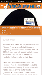 Pioneer Press Treasure Hunt - screenshot thumbnail