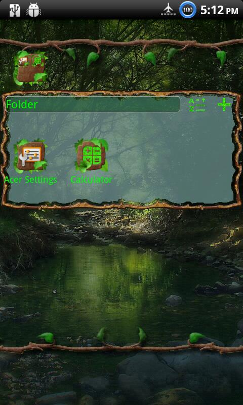 Wild Wood GO Launcher EX Theme - screenshot