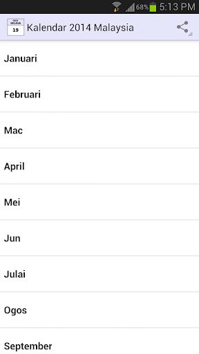 Kalendar 2014 Malaysia