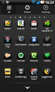 Download Black chrome Go Launcher theme APK