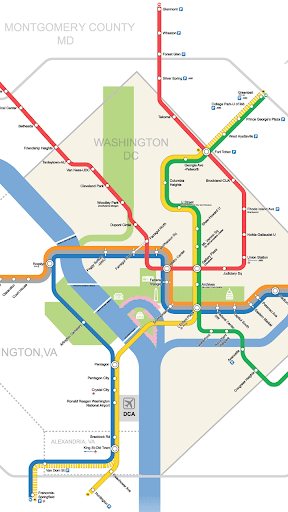 【免費交通運輸App】Washington Metro Map-APP點子