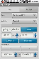 Screenshot of My Mileage Log & Expense