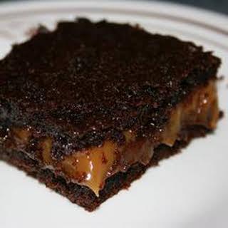 Chocolate Caramel Brownies.