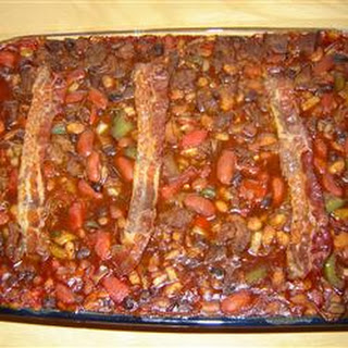 Venison and Barbequed Bean Bake.