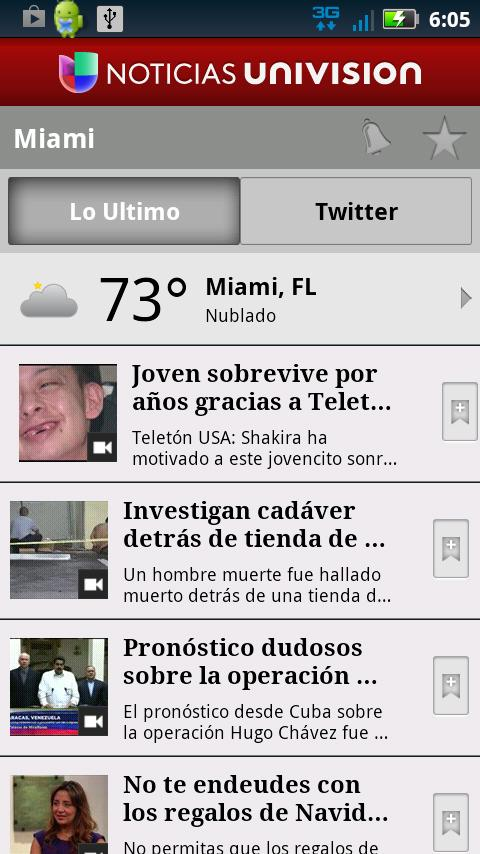 Noticias Univision- screenshot
