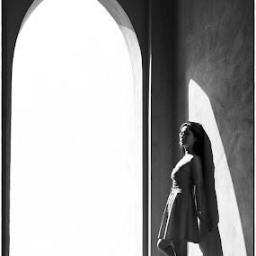 Shadows and Curves by Bhong Sangalang - Black & White Portraits & People