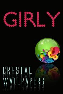 水晶少女壁紙