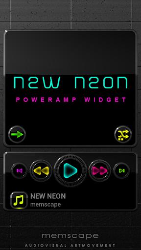 Poweramp Widget NEW NEON