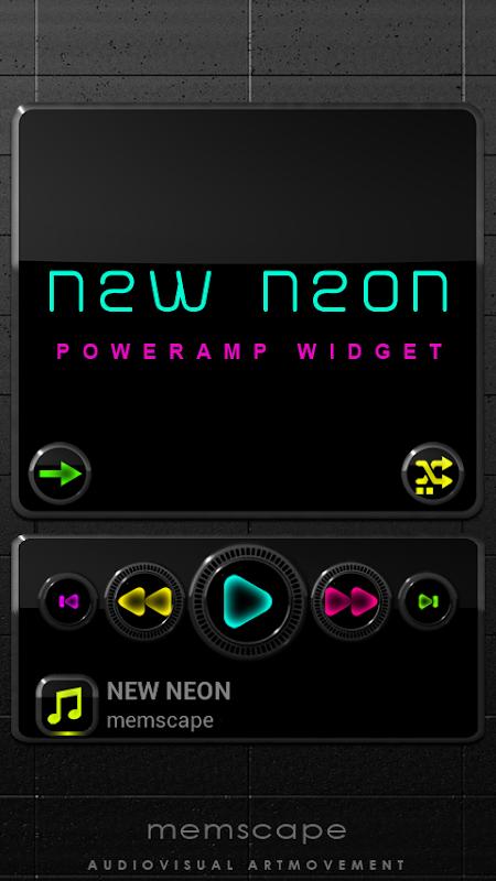 NEW NEON Poweramp Widget APK 2 06-build-206 Download - Free