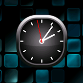 Cyan Bold Analog Clock