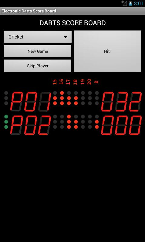 Electronic Darts Counter - screenshot