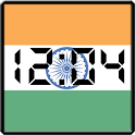 Flag LCD Clock Widget India