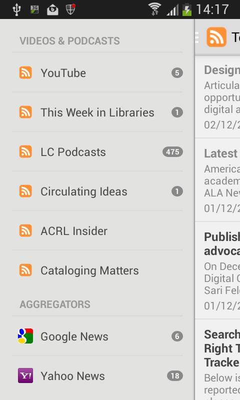 The Library Herald App- screenshot