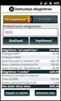 Screenshot of Atlyginimų skaičiuoklė