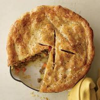 Beef, Cheddar and Potato Pie.