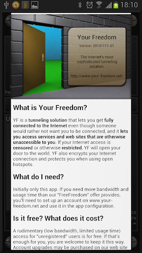 玩免費通訊APP|下載Your Freedom VPN Client app不用錢|硬是要APP