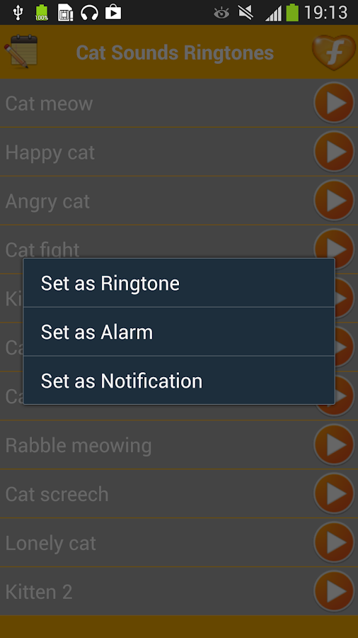 Cat Sounds Funny Ringtones - screenshot